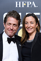 Actor Hugh Grant (L) and Anna Eberstein attend the 75th Annual Golden Globes Awards at the Beverly Hilton in Beverly Hills, CA on Sunday, January 7, 2018.<br /> *Editorial Use Only*<br /> CAP/PLF/HFPA<br /> &copy;HFPA/PLF/Capital Pictures