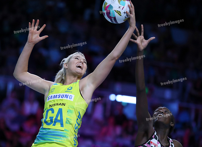 29/10/17 Fast5 2017<br /> Fast 5 Netball World Series<br /> Hisense Arena Melbourne<br /> Australia v South Africa <br /> Great Tippett<br /> <br /> <br /> <br /> <br /> <br /> Photo: Grant Treeby