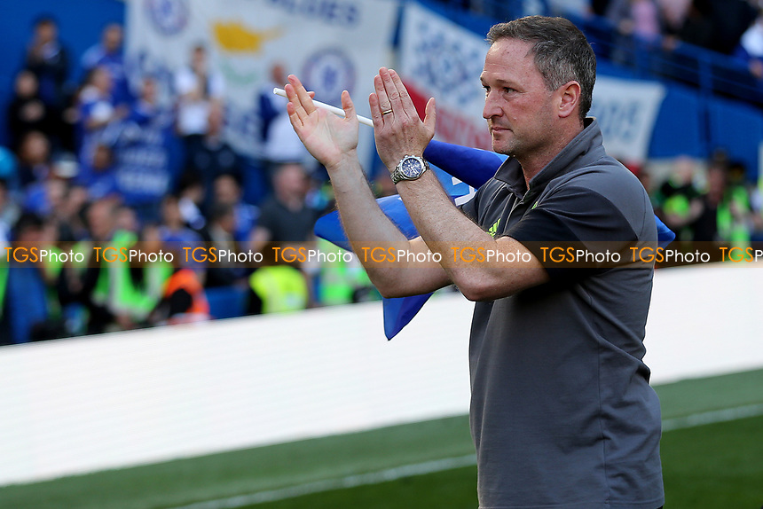 Assistant First Team Coach, Steve Holland, applauds the fans as he is leaving Chelsea to take up a full-time coaching role with England during Chelsea vs Sunderland AFC, Premier League Football at Stamford Bridge on 21st May 2017