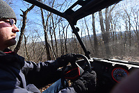 NWA Democrat-Gazette/FLIP PUTTHOFF <br /> Kris Muldoon steers his off-road rig through the Ozark National Forest on Dec. 21 2018. He's been riding ATVs since he was a kid and says logging roads in the forest and remote county paths make for scenic riding.