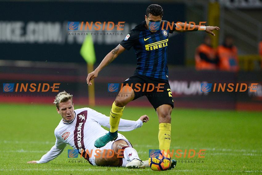 Maxi Lopez Torino, Jeison Murillo Inter<br /> Milano 26-10-2016 Stadio Giuseppe Meazza - Football Calcio Serie A Inter - Torino. Foto Giuseppe Celeste / Insidefoto
