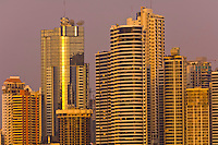 Downtown Panama City with Panama Bay in foreground, Panama