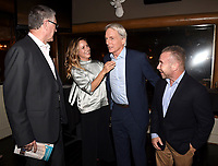 "STUDIO CITY, CA - NOVEMBER 6:  (L-R) Tony Frost, Maria Bello, Mark Harmon and David Jackson attend the TV Guide Magazine Cover Party for Mark Harmon and 15 seasons of the CBS show ""NCIS"" at River Rock at Sportsmen's Lodge on November 6, 2017 in Studio City, California. (Photo by Frank Micelotta/PictureGroup)"