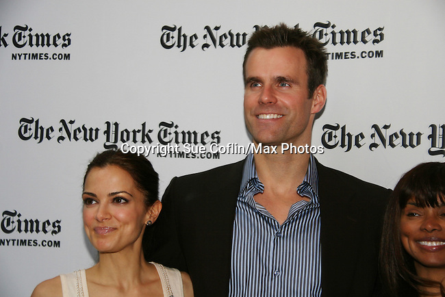 Rebecca Budig and Cameron Mathison and Debbi Morgan- All My Children at 40 celebrate on January 10, 2010 at the New York Times Arts & Leisure Weekend at the TimesCenter Stage, New York City, New York. (Photo by Sue Coflin/Max Photos)