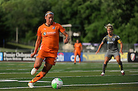 Laura Kalmari (21) of Sky Blue FC. The Philadelphia Independence defeated Sky Blue FC 2-1 during a Women's Professional Soccer (WPS) match at John A. Farrell Stadium in West Chester, PA, on June 6, 2010.