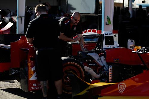 26-27 February, 2016, Avondale, Arizona USA<br /> Andretti garage, crewmen at work on Carlos Munoz' car<br /> ©2016, Phillip Abbott<br /> LAT Photographic
