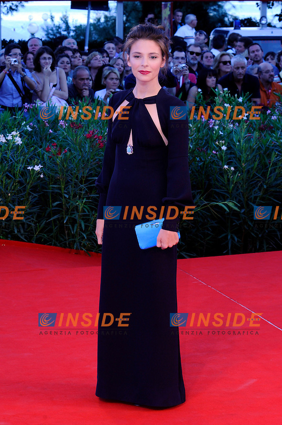 """- """"67 Mostra Internazionale D'Arte Cinematografica"""". Saturday,2010 September 11, Venice ITALY..- In The Picture: The actress Jasmine Trinca on the red carpet for the evening of the awards...Photo STEFANO MICOZZI / Insidefoto"""