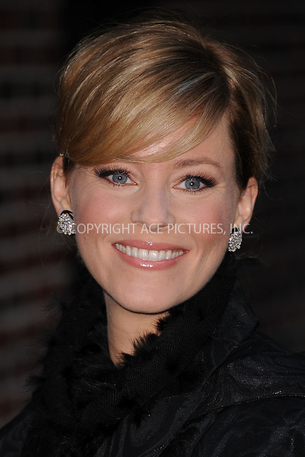WWW.ACEPIXS.COM . . . . . .January 16, 2012...New York City....Elizabeth Banks tapes  an appearance on the Late Show with David Letterman on January 16, 2012  in New York City....Please byline: KRISTIN CALLAHAN - ACEPIXS.COM.. . . . . . ..Ace Pictures, Inc: ..tel: (212) 243 8787 or (646) 769 0430..e-mail: info@acepixs.com..web: http://www.acepixs.com .