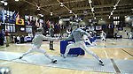 11 February 2017: Duke's Agoston Walter (right) and MIT's Tzer Wong (MAS) (left) compete in Saber. The Duke University Blue Devils hosted the Massachusetts Institute of Technology Engineers at Card Gym in Durham, North Carolina in a 2017 College Men's Fencing match. Duke won the dual match 19-8 overall, 7-2 Foil, 6-3 Epee, and 6-3 Saber.
