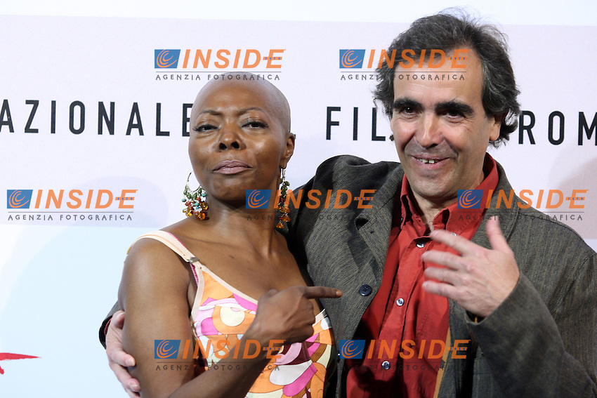 Francois Dupeyron and Felicite Wouassi<br /> <br /> Third edition of the Rome International film festival<br /> <br /> Roma 27/10/2008 <br /> <br /> Photo CAll  'Aide-toi et le ciel t'aidera&quot;<br /> <br /> Photo Antonietta Baldassarre Insidefoto