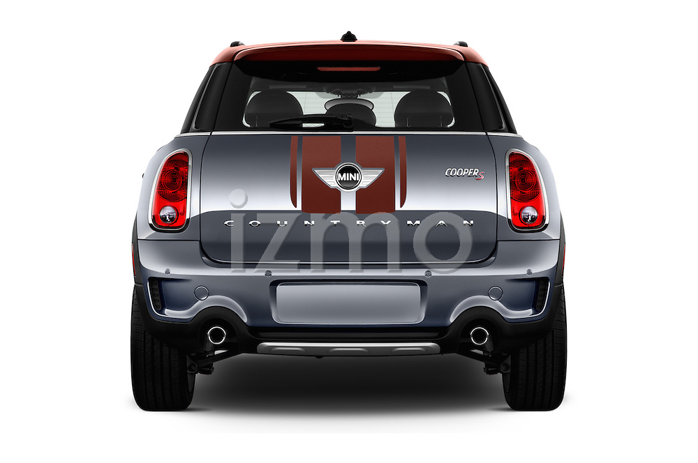 Straight rear view of 2016 MINI Countryman Cooper S Park Lane 5 Door Hatchback Rear View  stock images