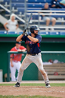 Lowell Spinners first baseman Devlin Granberg (35) at bat during a game against the Batavia Muckdogs on July 15, 2018 at Dwyer Stadium in Batavia, New York.  Lowell defeated Batavia 6-2.  (Mike Janes/Four Seam Images)