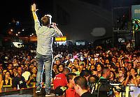 RIO DE JANEIRO, RJ, 16 MARÇO 2013 - RIO VERÃO FESTIVAL 2013 - O cantor Michel Teló  durante a segunda edição do Rio Verão Festival 2013 na Praça da Apoteose no Rio de Janeiro, neste sábado, 16. (FOTO: SANDRO VOX / BRAZIL PHOTO PRESS).