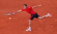 Nicolas Almagro (ESP) (19) against Rafael Nadal (ESP) (2)  in the quarter finals of the men's singles. Rafael Nadal beat Nicolas Almagro 7-6 7-6 6-4..Tennis - French Open - Day 11 - Wed 02 June 2010 - Roland Garros - Paris - France..© FREY - AMN Images, 1st Floor, Barry House, 20-22 Worple Road, London. SW19 4DH - Tel: +44 (0) 208 947 0117 - contact@advantagemedianet.com - www.photoshelter.com/c/amnimages