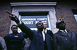 Rev. Ralph Shuttlesworth addressing demonstrators in front of Jefferson county court house, Birmingham, Ala. This and over 10,000 other images are part of the Jim Peppler Collection at The Alabama Department of Archives and History:  http://digital.archives.alabama.gov/cdm4/peppler.php