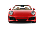 Car photography straight front view of a 2017 Porsche 911 Carrera 2 Door Convertible Front View