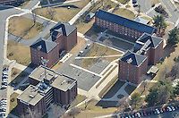 Aerial Photo of Central Connecticut State University, Four Residence Halls. 22 February 2012