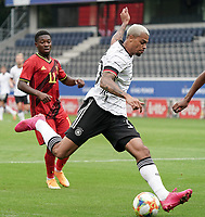 Germany's Lukas Nmecha (10) in action during a soccer game between the national teams Under21 Youth teams of Belgium and Germany on the 5th matday in group 9 for the qualification for the Under 21 EURO 2021 , on tuesday 8 th of September 2020  in Leuven , Belgium . PHOTO SPORTPIX.BE | SPP | SEVIL OKTEM
