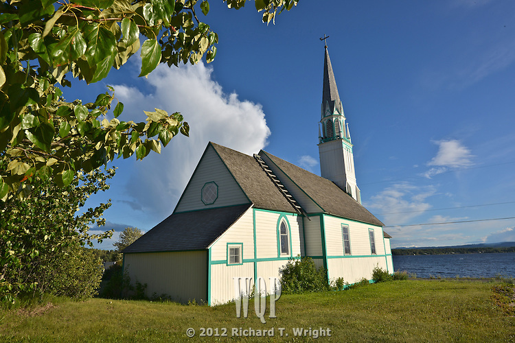 Our Lady of Good Hope Church on the shore of Stuart lake in Fort St. James. Built in 1873, this is one of the oldest Roman Catholic Churches in British Columbia.