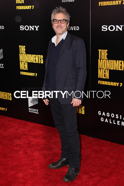 "NEW YORK, NY - FEBRUARY 04: Alfonso Cuaron at the New York Premiere Of Columbia Pictures' ""The Monuments Men"" held at Ziegfeld Theater on February 4, 2014 in New York City, New York. (Photo by Jeffery Duran/Celebrity Monitor)"