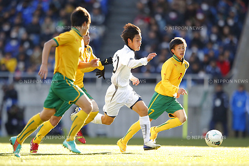 Ryoma Watanabe (Maebashi Ikuei), <br /> JANUARY 12, 2015 - Football / Soccer : <br /> 93rd All Japan High School Soccer Tournament final match between Maebashi Ikuei 2-4 Seiryo at Sitama Stadium 2002, Saitama, Japan. <br /> (Photo by Yusuke Nakanishi/AFLO SPORT) [1090]