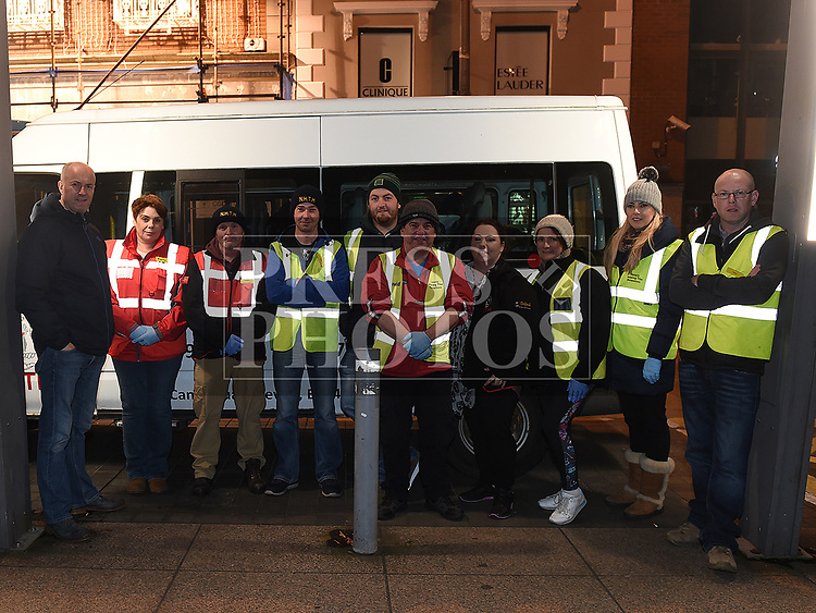 Mayor of Drogheda Pio Smith with members of the Newry Help The Homeless Group. Photo:Colin Bell/pressphotos.ie