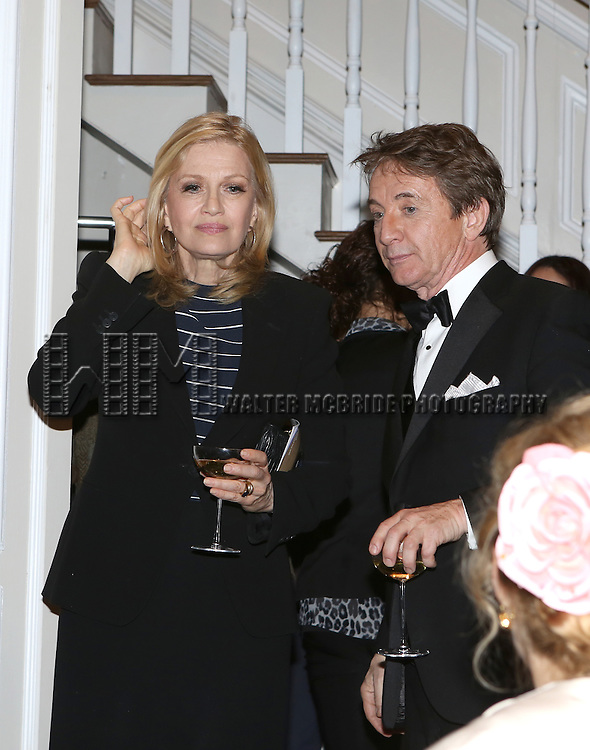 Diane Sawyer and Martin Short attend the re-opening night performance backstage reception for 'It's Only A Play' at the Bernard B. Jacobs Theatre on January 23, 2014 in New York City.