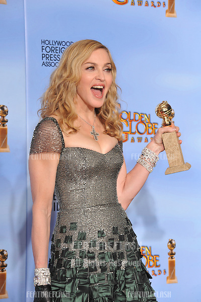 Madonna at the 69th Golden Globe Awards at the Beverly Hilton Hotel..January 15, 2012  Beverly Hills, CA.Picture: Paul Smith / Featureflash
