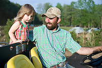 Jeremiah Jones and Kate at Beaulaville, NC pig farm - Grassroots Pork Co.