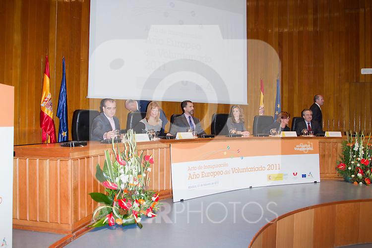 """010211.Mc.Ppes de Asturias Inauguración En España Del """"Año Europeo Del Voluntariado 2011""""..010211.M. Sanidad. Madrid. .."""