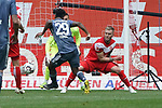 14.04.2019, Merkur Spielarena, Duesseldorf , GER, 1. FBL,  Fortuna Duesseldorf vs. FC Bayern Muenchen,<br />  <br /> DFL regulations prohibit any use of photographs as image sequences and/or quasi-video<br /> <br /> im Bild / picture shows: <br /> Kingsley Coman (Bayern Muenchen #29),    schiesst das 2:0 <br /> <br /> Foto © nordphoto / Meuter