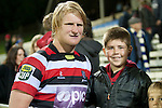Jamie Chipman with fans after the game. ITM Cup rugby game between Counties Manukau and Manawatu played at Bayer Growers Stadium on Saturday August 21st 2010..Counties Manukau won 35 - 14 after leading 14 - 7 at halftime.