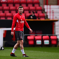 Lincoln City's Michael O'Connor during the pre-match warm-up<br /> <br /> Photographer Andrew Vaughan/CameraSport<br /> <br /> The EFL Sky Bet League Two - Swindon Town v Lincoln City - Saturday 12th January 2019 - County Ground - Swindon<br /> <br /> World Copyright &copy; 2019 CameraSport. All rights reserved. 43 Linden Ave. Countesthorpe. Leicester. England. LE8 5PG - Tel: +44 (0) 116 277 4147 - admin@camerasport.com - www.camerasport.com