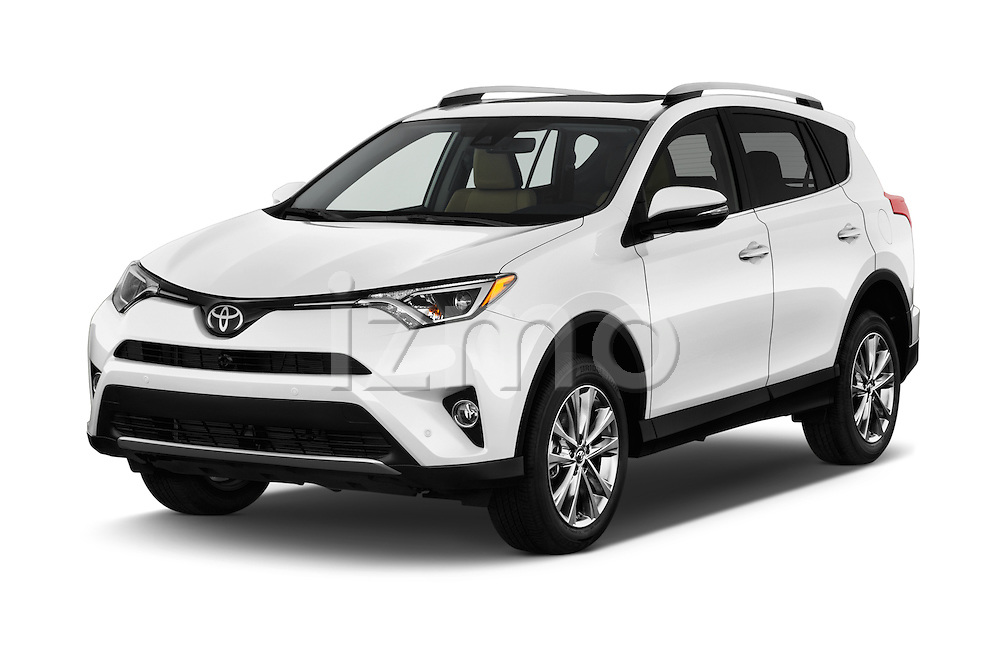 2016 Toyota RAV4 Limited 4x4 Door Suv Angular Front stock photos of front three quarter view