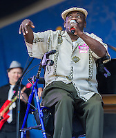 "Clarence ""Frogman"" Henry performs at the 2013 Jazz and Heritage Festival in New Orleans, LA on May 5, 2013.  © HIGH ISO Music, LLC / Retna, Ltd."