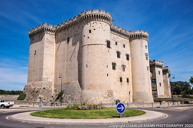 The Tasascon Castle,  known as Le Chateau de Tarascon, was built in the early 1400s and later served as a prison, which accounted for the survival of the building into modern times.