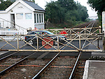 Manually operated railway level crossing at Cantley, Norfolk, Suffolk,