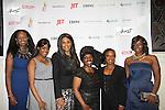 Siamanda Chege, Kimmie Smith, Beverly Johnson, Alexandreena Dixon, Hanes, Bisila Bokoko - all honored - Color of Beauty Awards honoring supermodel Beverly Johnson on February 4, 2014 at Holy Apostles, New York City, New York. (Photo by Sue Coflin/Max Photos)