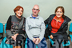 Catherine O'Brien, Dermot and Karen Cremins attending the meeting on the proposed Asphalt Plant in the Ballymacelligott Community Centre on Thursday night.