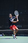 SAN DIEGO, CA - APRIL 24:  Youssef El Bouzkouri of the Saint Marys Gaels during the WCC Tennis Championships at the Barnes Tennis Center on April 24, 2010 in San Diego, California.