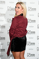 Gabby Allen arriving for the Natural History Museum Ice Rink launch party 2017, London, UK. <br /> 25 October  2017<br /> Picture: Steve Vas/Featureflash/SilverHub 0208 004 5359 sales@silverhubmedia.com