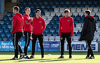 Fleetwood Town's  players inspecting the pitch <br /> <br /> Photographer Andrew Kearns/CameraSport<br /> <br /> The EFL Sky Bet League One - Gillingham v Fleetwood Town - Saturday 3rd November 2018 - Priestfield Stadium - Gillingham<br /> <br /> World Copyright © 2018 CameraSport. All rights reserved. 43 Linden Ave. Countesthorpe. Leicester. England. LE8 5PG - Tel: +44 (0) 116 277 4147 - admin@camerasport.com - www.camerasport.com