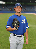 July 14th, 2007:  Chris Salberg of the Aberdeen Ironbirds, Class-A Short-Season affiliate of the Baltimore Orioles, poses for a photo before a game vs the Jamestown Jammers in New York-Penn League action.  Photo Copyright Mike Janes Photography 2007.