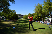 Jon Rahm (ESP) watches his 445 yard drive on 12 during round 2 of the World Golf Championships, Dell Technologies Match Play, Austin Country Club, Austin, Texas, USA. 3/23/2017.<br /> Picture: Golffile | Ken Murray<br /> <br /> <br /> All photo usage must carry mandatory copyright credit (&copy; Golffile | Ken Murray)