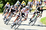 Team Sunweb including Polka Dot Jersey Warren Barguil (FRA) on front of the peloton during Stage 16 of the 104th edition of the Tour de France 2017, running 165km from Le Puy-en-Velay to Romans-sur-Isere, France. 18th July 2017.<br /> Picture: ASO/Alex Broadway | Cyclefile<br /> <br /> <br /> All photos usage must carry mandatory copyright credit (&copy; Cyclefile | ASO/Alex Broadway)