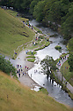 24/08/14 <br /> <br /> With poor Bank Holiday Monday weather forecast for tomorrow, tourists flock to Dovedale, Derbyshire, to enjoy a day out in the Peak District <br /> <br /> All Rights Reserved: F Stop Press Ltd. +44(0)1335 300098   www.fstoppress.com.