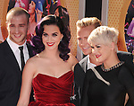 HOLLYWOOD, CA - JUNE 26: Katy Perry and dancers arrive at 'Katy Perry: Part Of Me' Los Angeles Premiere at Grauman's Chinese Theatre on June 26, 2012 in Hollywood, California.