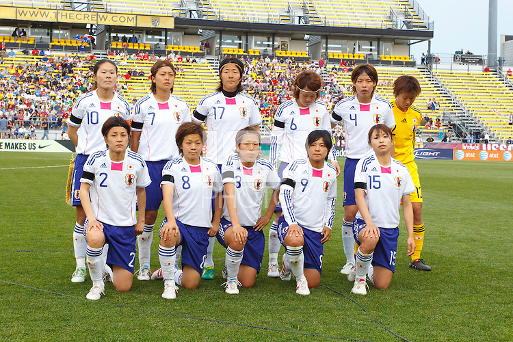 14 MAY 2011: Japan National team before the International Friendly soccer match between Japan WNT vs USA WNT at Crew Stadium in Columbus, Ohio.