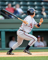 May 9, 2008: Infielder Cole Miles (2) of the Rome Braves, Class A affiliate of the Atlanta Braves, in a game against the Greenville Drive at Fluor Field at the West End in Greenville, S.C.   Photo by:  Tom Priddy/Four Seam Images