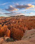 Bryce Canyon National Park, UT: Sunset clouds over the Bryce Canyon Ampitheater